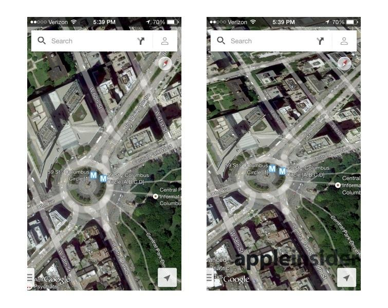 Apples IOS D Maps Leave Google Earth Nokia Maps D Looking - Google world map satellite free