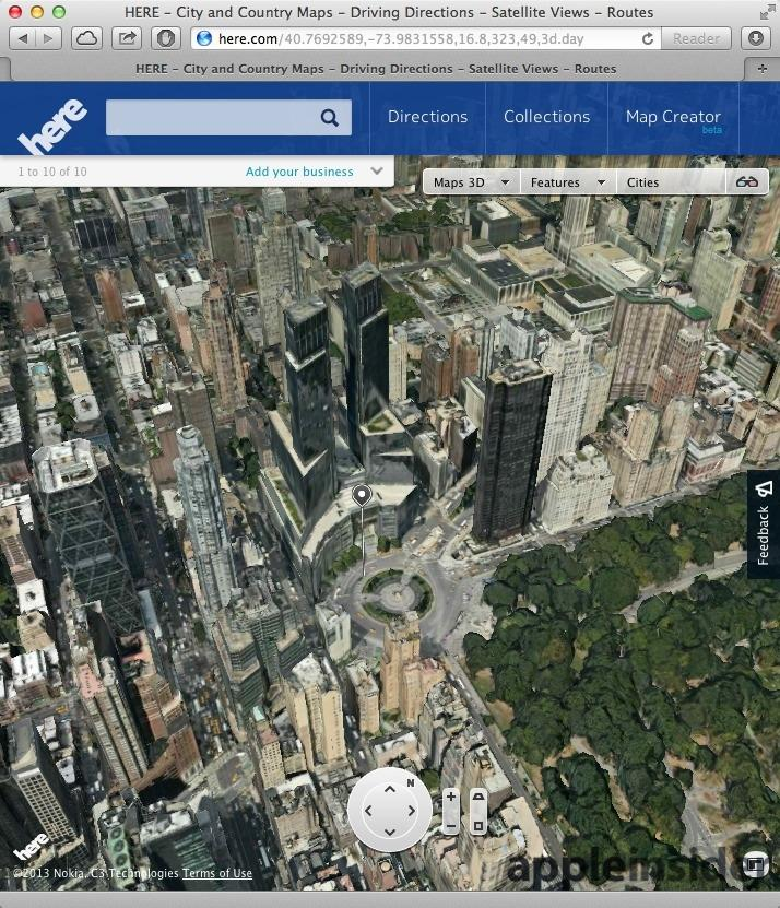 Apples ios 7 3d maps leave google earth nokia maps 3d looking old nokia maps 3d publicscrutiny Gallery