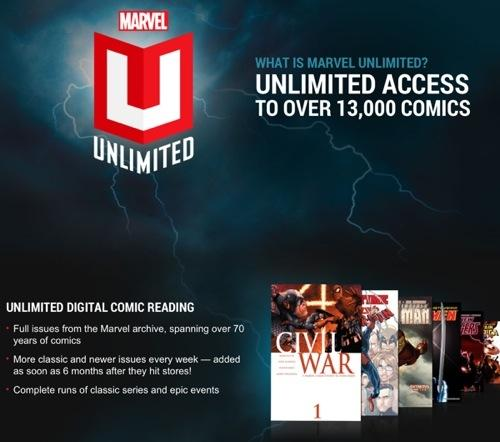 marvel unlimited launches on ios with subscription based access to