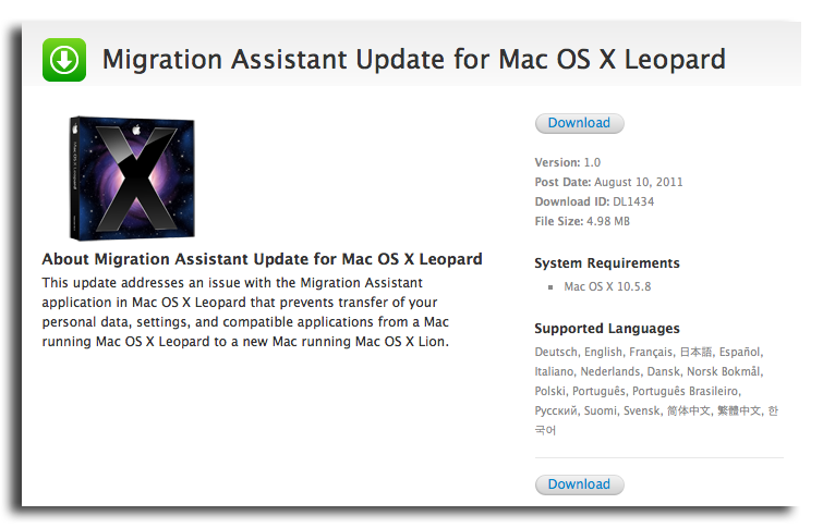migration assistant how to open