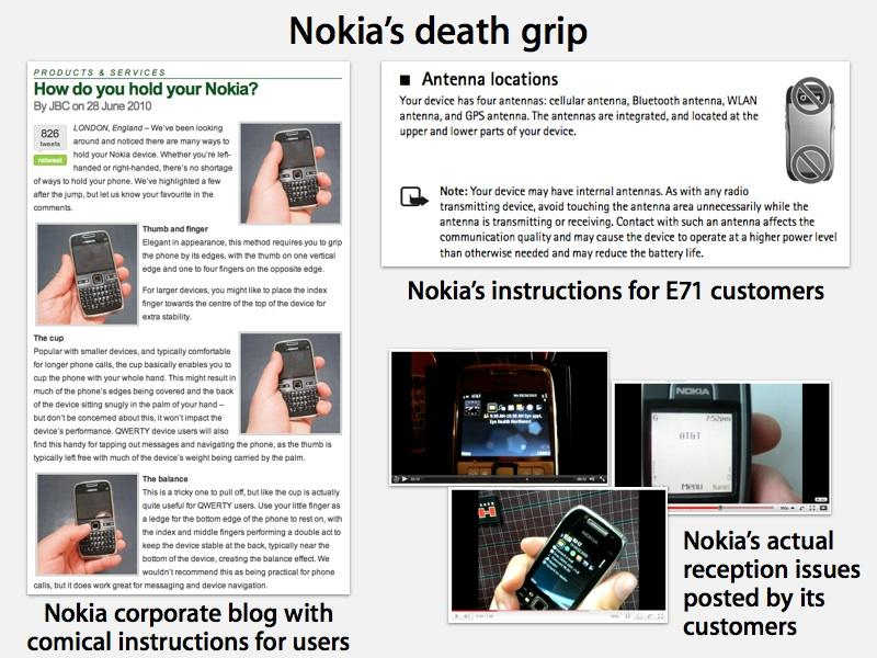 Nokia Pokes At Iphone 4 Death Grip Gets Called On It U