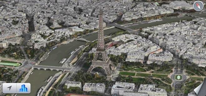 Apple Maps D Flyover Support Comes To Paris - Dynamic us map flyover