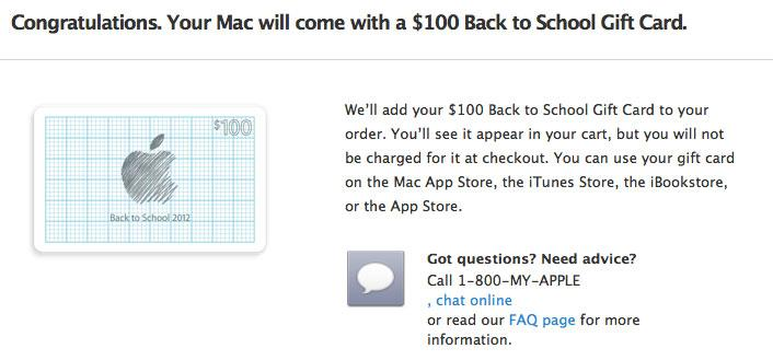 Apple's Back to School promo offers $100 iTunes card with Mac, $50 ...