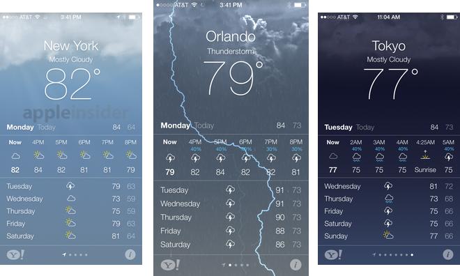 Snow Icon On Iphone Weather App