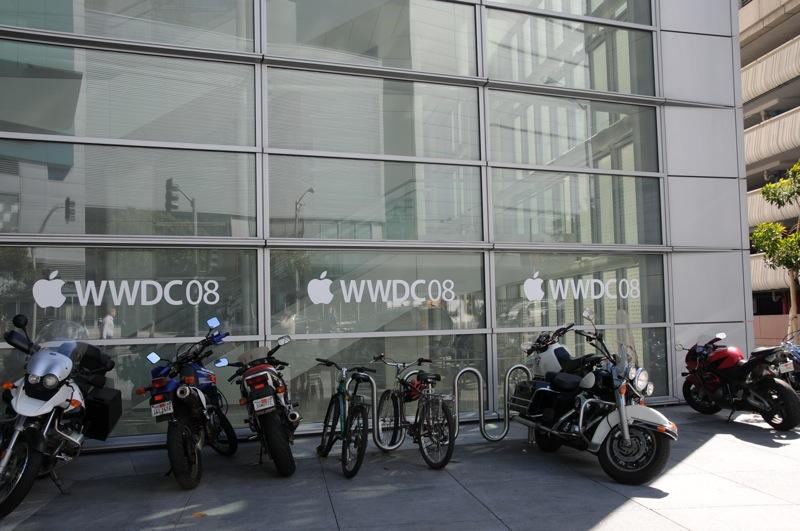 WWDC setup on Thursday