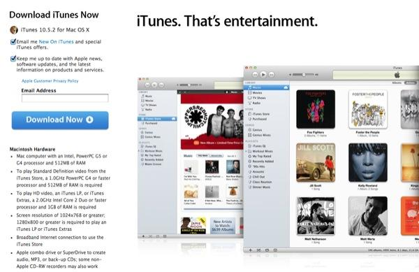 iTunes 10 5 2 released, Thunderbolt Display firmware updated