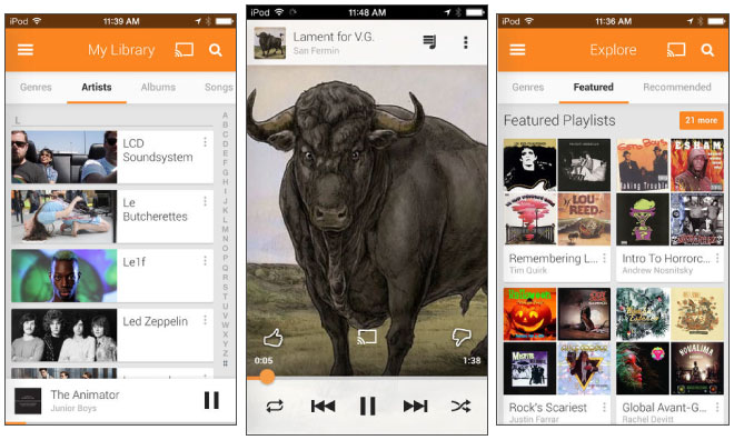 Official Google Play Music app debuts on Apple's iOS