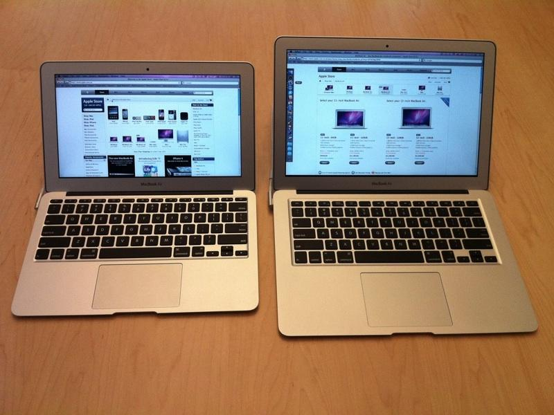 Image result for macbook air 11 inch vs 13 inch""