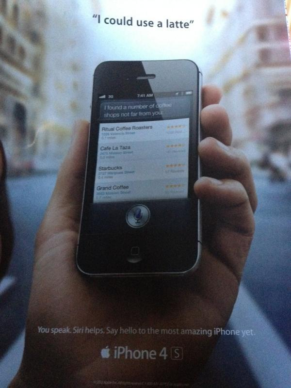 Siri print ad shows up in Rolling Stone magazine
