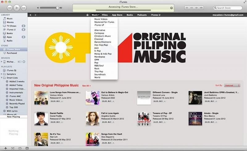 Apple iTunes store to open in Philippines, Singapore [u]