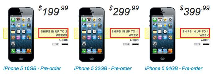 sprint iphone pre order iphone 5 pre order delivery dates pushed back again due to 1726