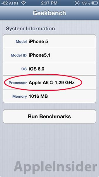 iphone 6 processor speed new benchmark shows apple s a6 processor may be clocked at 15059
