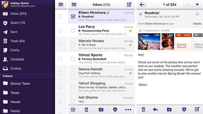 set up yahoo mail iphone