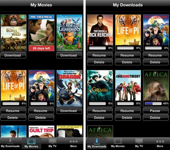 movies & tv player