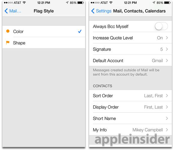iphone mail settings inside ios 7 mail gets advanced gesture support and 12018