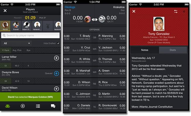 Yahoo's updated Fantasy Sports app brings mobile drafting to iOS