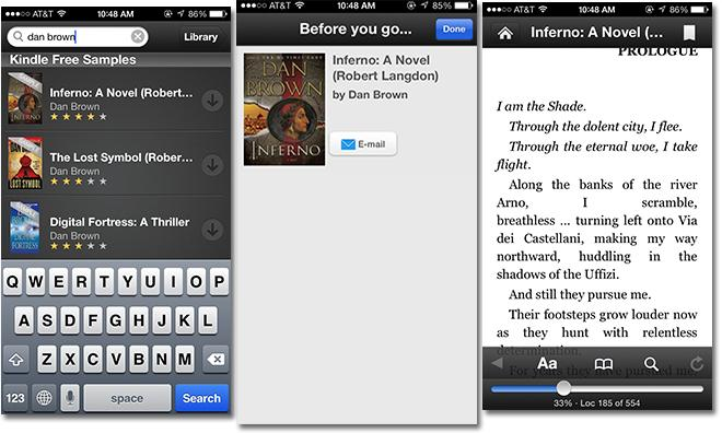 Amazon Updates Kindle Ios App With Book Searches Slides By