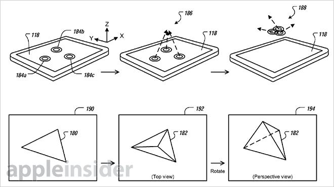 Apple patents 3D gesture UI for iOS based on proximity sensor input