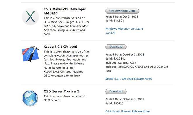 Apple releases OS X 10 9 Mavericks Golden Master to developers