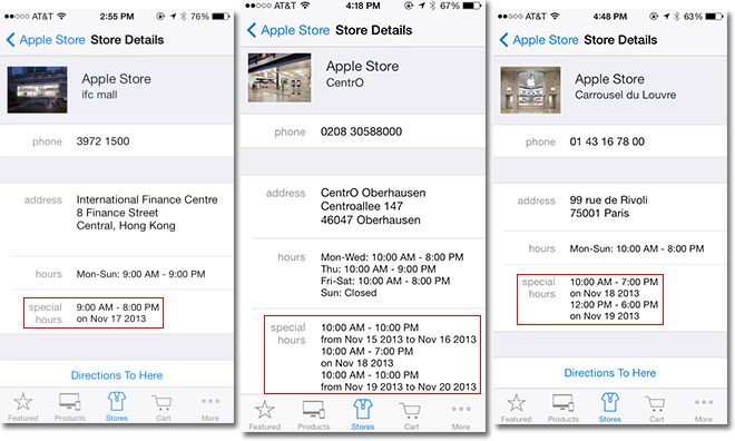 iphone store locator apple stores around the world to hours early next 12355