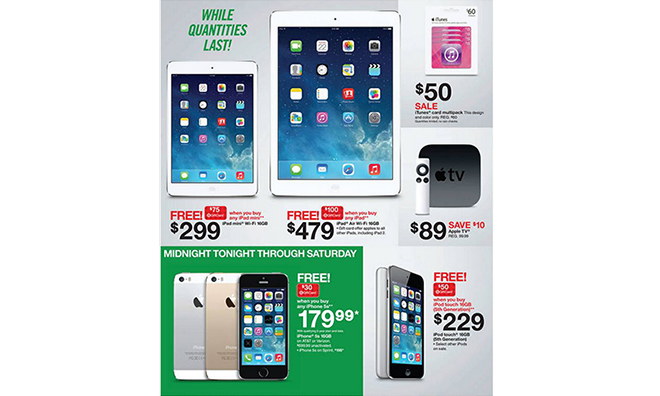 Target's Black Friday ad highlights $479 iPad Air with free