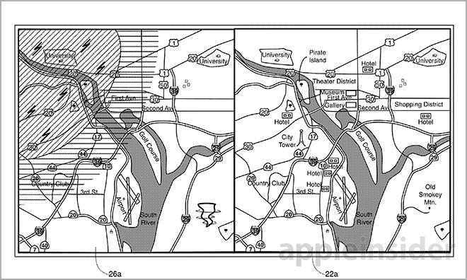Apple hints at future Maps app in 'layered map' patent filing
