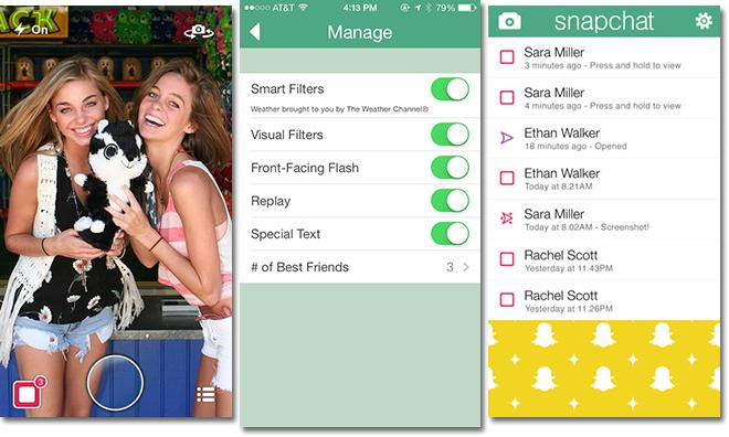 Snapchat for iOS adds message replays, filters, 'best friends' in update