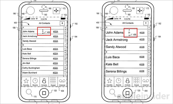 Apple's patented GUI compensates for iPhone motion