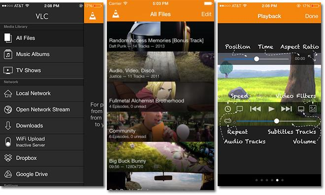 VLC for iOS gets Google Drive downloads, Dropbox streaming