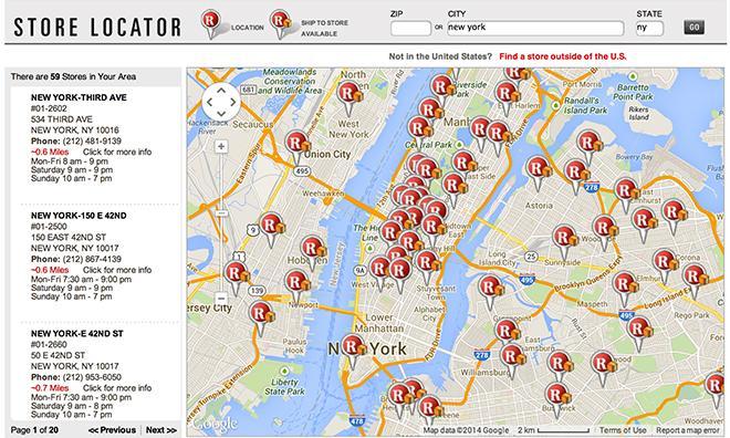Radios S Online Store Locator Shows An Abundance Of New York Locations Source Radios