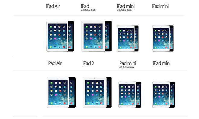 The Ipad With Retina Display 4th Gen Ipad Replaces The Ipad 2 On Apples Compare Ipad Models Webpage Source Apple