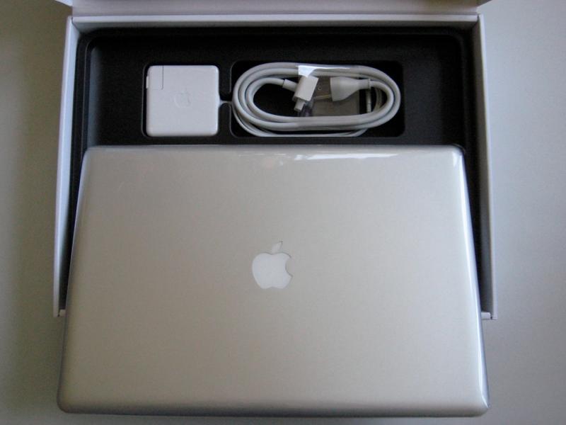 inside 17 MacBook Pro box