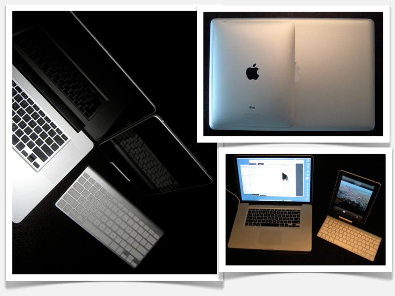 iPad and 17 MacBook Pro