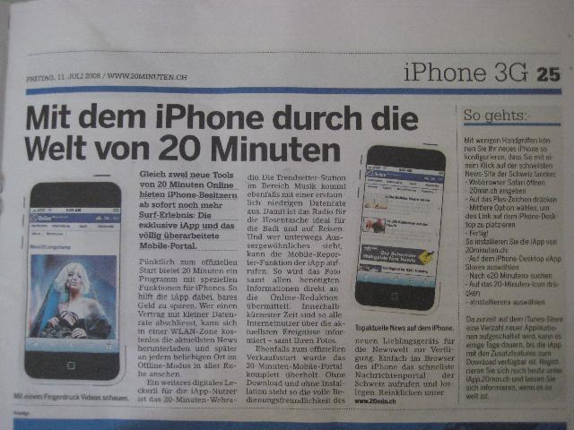 20 Minuten iPhone app story