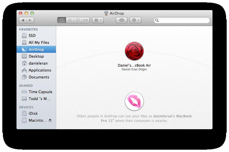 Inside Mac Os X 10 7 Lion Airdrop Limited To Modern Macs