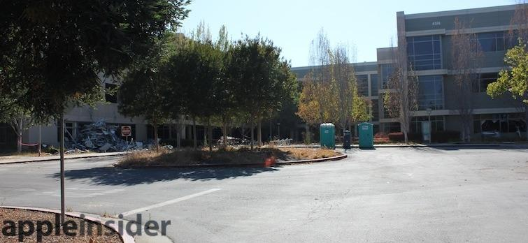 Structures getting demolished as Apple Campus 2 guts the