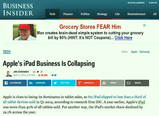 iPad collapse