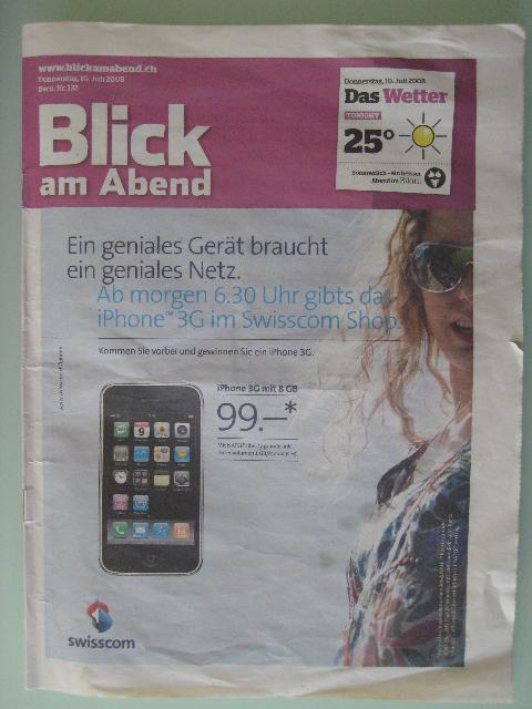 iPhone paper ad wrap