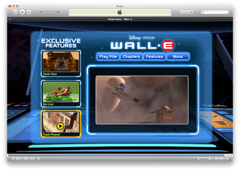 WallE iTunes Extra