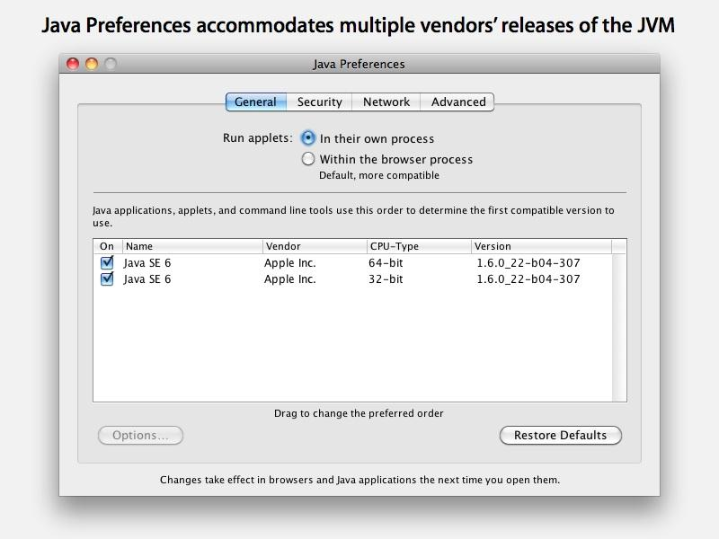 Apple deprecates its release of Java for Mac OS X