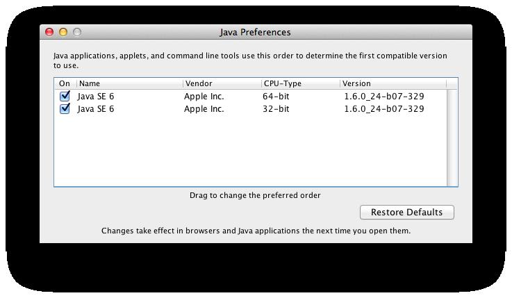 Apple Java For Mac Os X