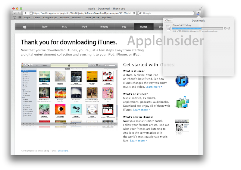 Inside Mac OS X 10 7 Lion: Safari adds iPad-like Downloads menu