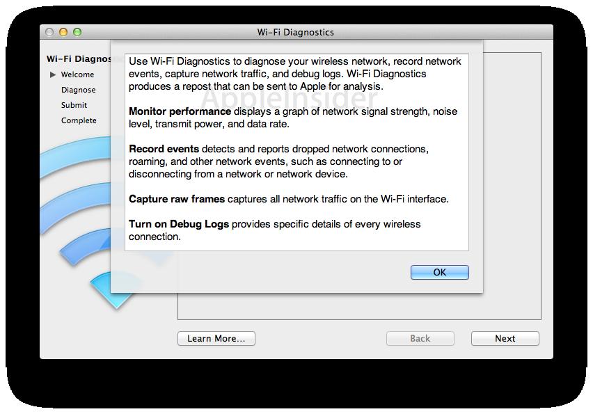 Inside Mac OS X 10 7 Lion: New Wi-Fi Diagnostics tool