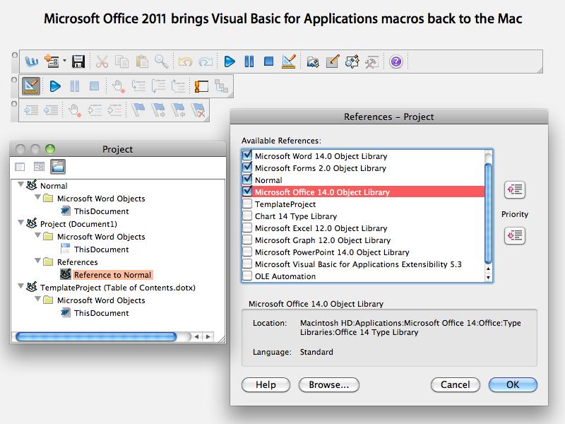 Office 2011 for Mac VBA