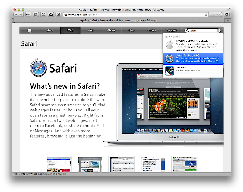Apple apparently kills Windows PC support in Safari 6 0