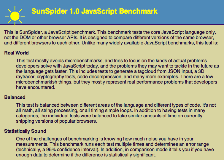 WebKit releases new SunSpider 1 0 benchmark to chart the