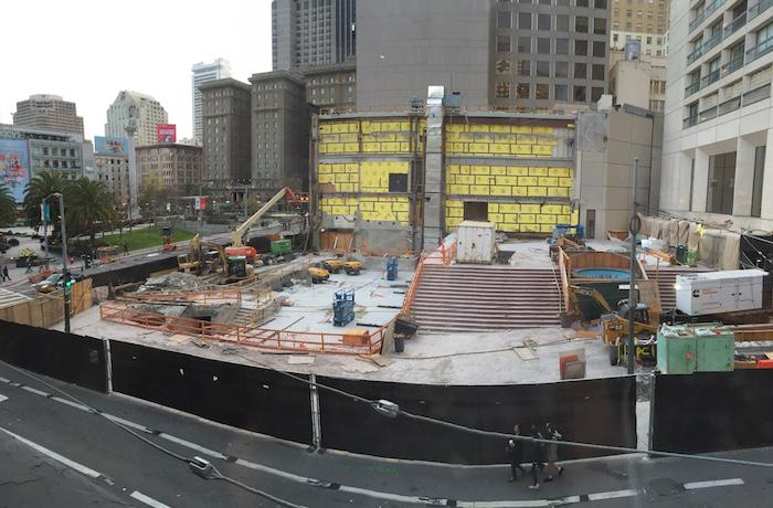 New Flagship Union Square Apple Store Beginning To Rise In