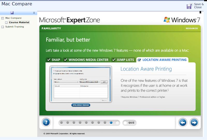 Windows 7 talking points against Macs