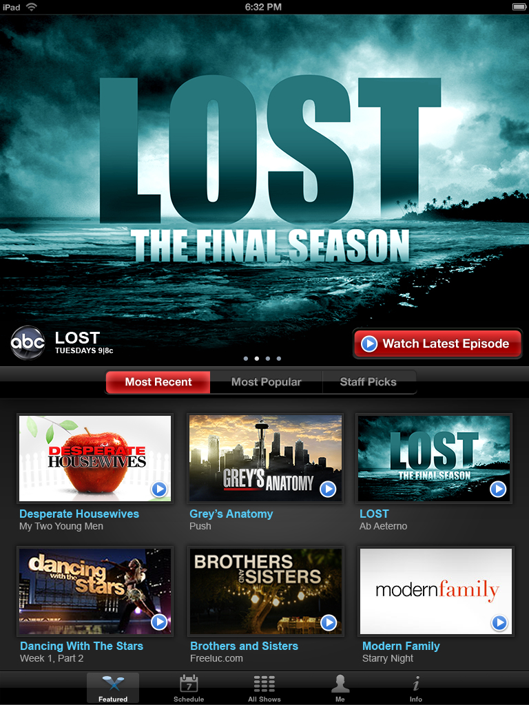 abc  netflix streaming ipad software available on app store