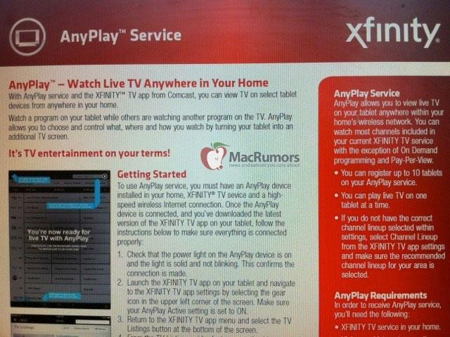 Comcast to offer AnyPlay live TV streaming service on